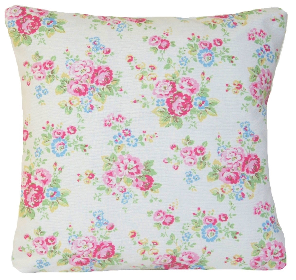 Floral Cushion Cover Floral Cath Kidston Fabric Pillow Throw Case Pink Red Green Cotton Fabric Printed
