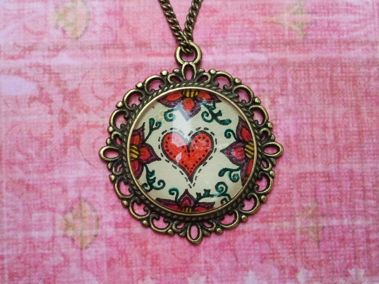 Heart Stitch Necklace