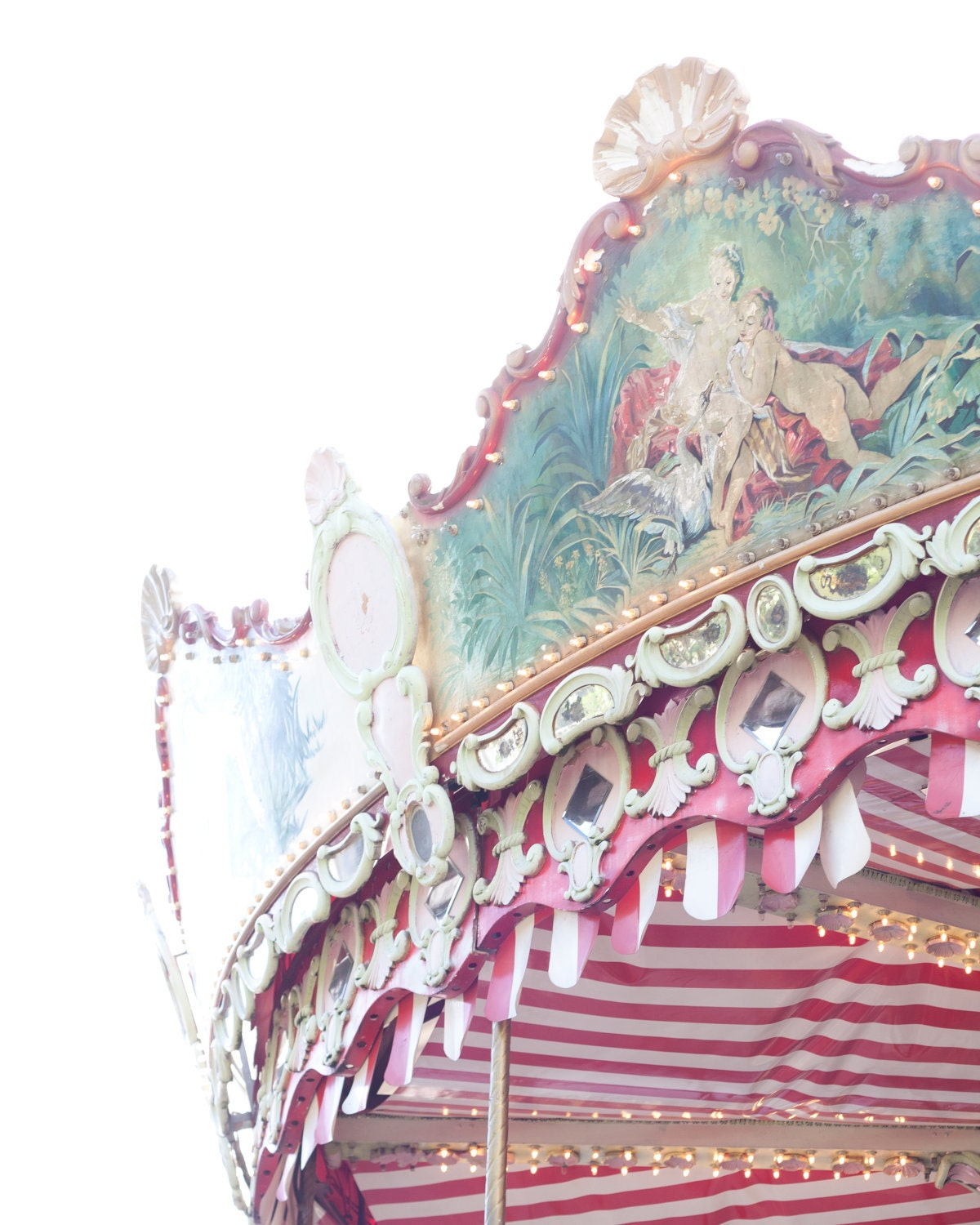 French Carousel Photography Carnival France Photo - 8 x 10 - Fine Art Photography print - French Home decor Children Pink Fun Wall art