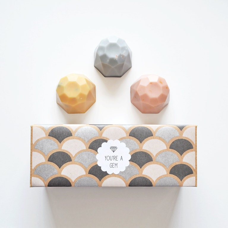 Jewel Soap Gift Set - You're a Gem - 3 Soaps, Boxed and Gift Wrapped