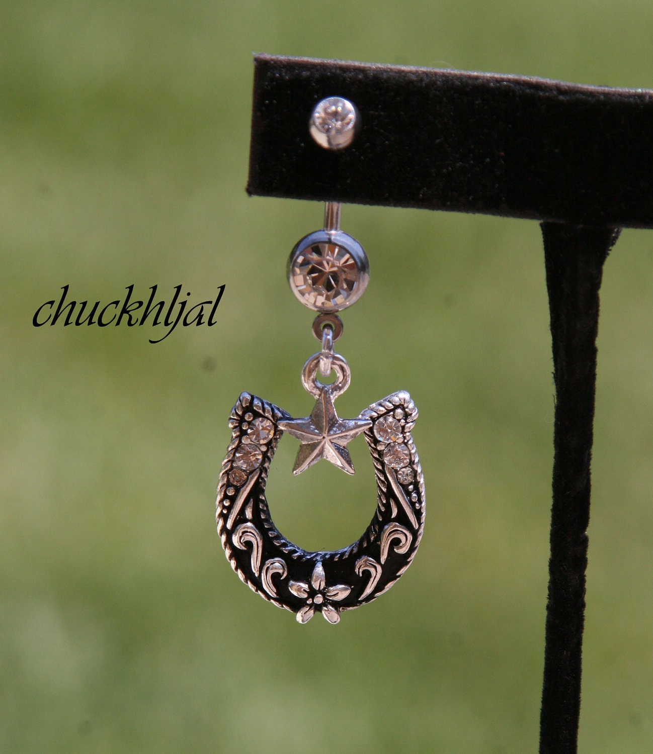 size shoe designer belly button ring by