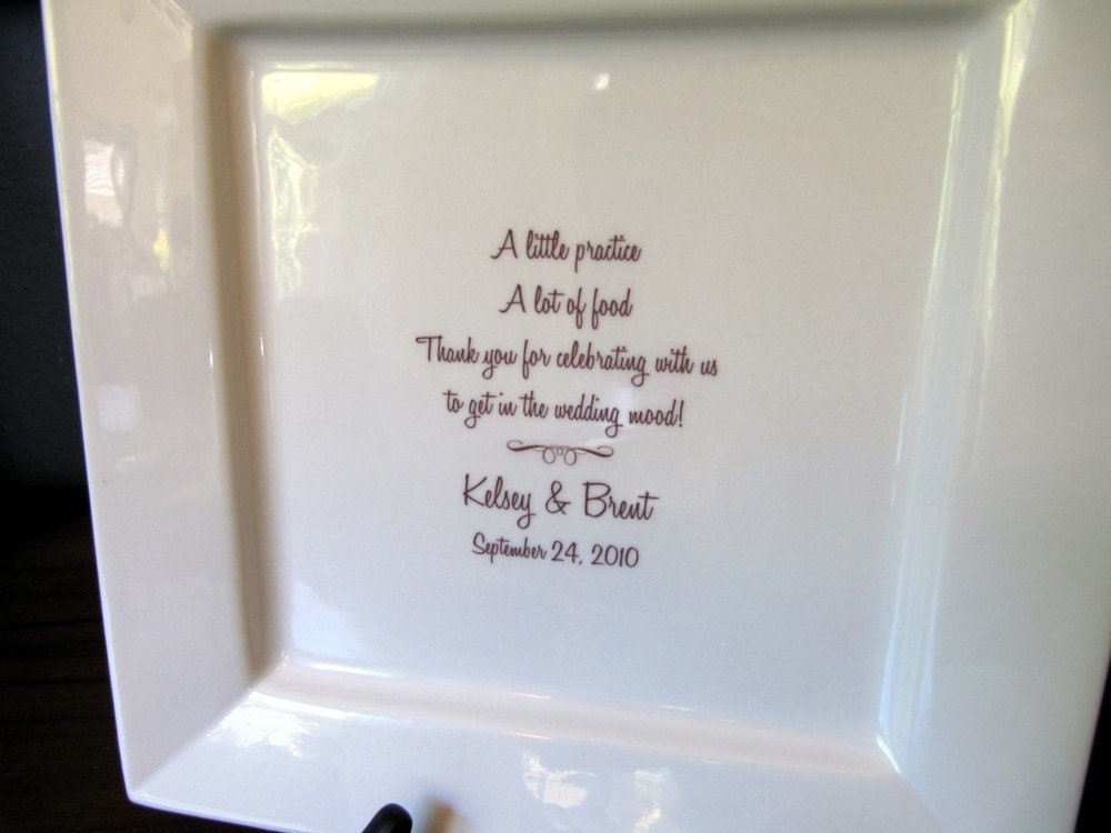 Wedding Rehearsal Dinner Guest Book Signature Platter