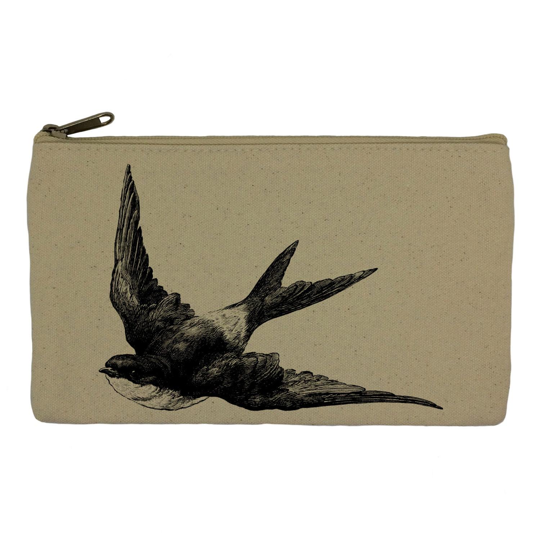 Pencil case stationary swallow bird pencil pouch canvas bag pencil holder make up bag school supplies