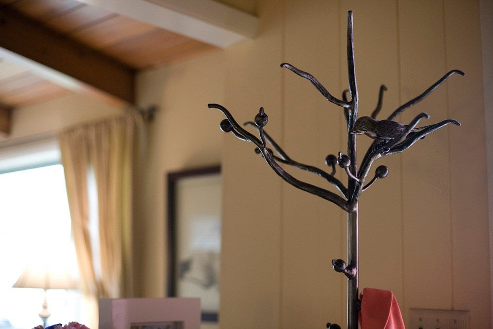 Items similar to Wrought Iron Bird and Branch Coat Rack on Etsy