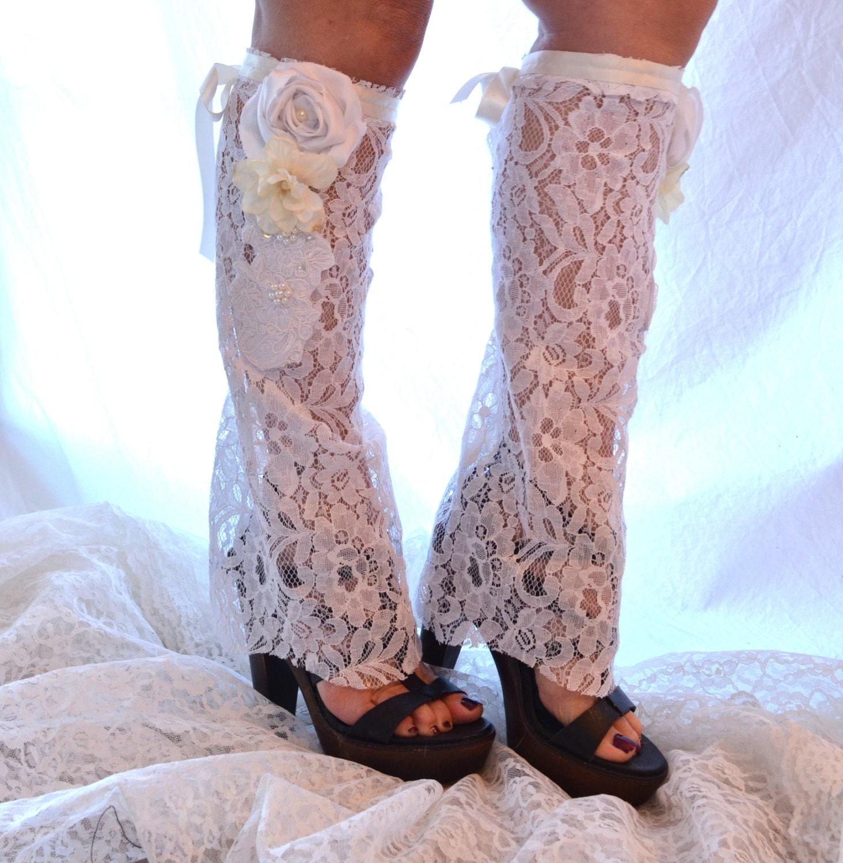 lace boot socks leg warmers s by truerebelclothing
