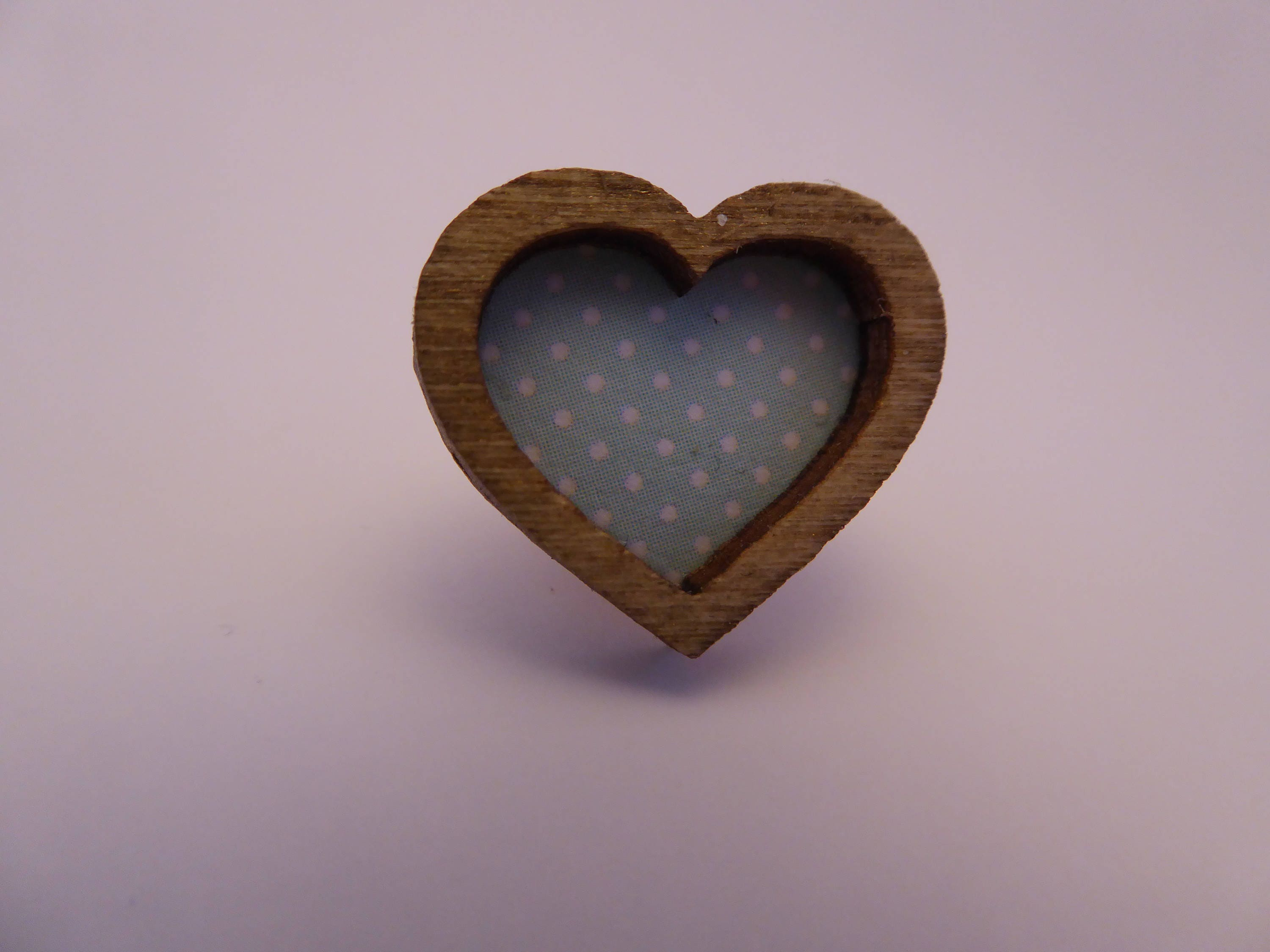 Handmade heart shaped picture frame for the modern 112th scale dolls house  shabby chic  blue