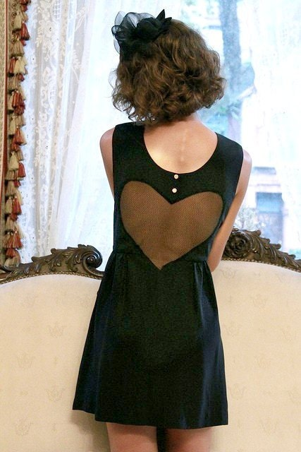 SALE - If I Only Had a Velvet Heart Dress - READY To SHIP - Size - 6