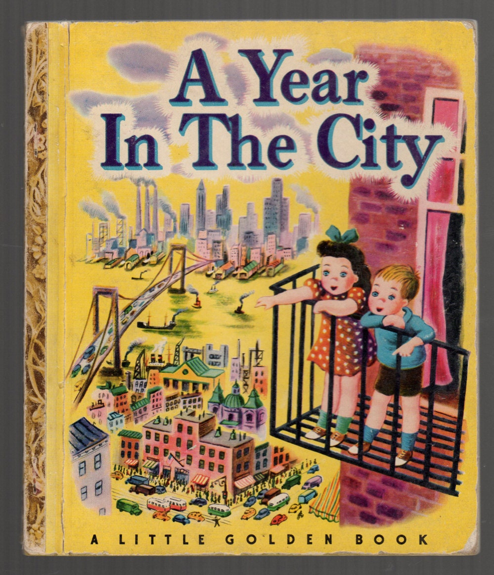 1948 Rare Little Golden Book A Year In The By Oldpaperandpages