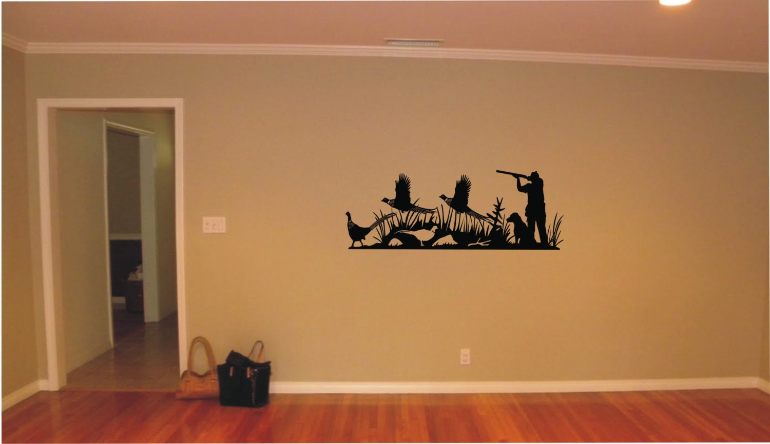 Hunting vinyl decal wall sticker wall tattoo by tibi291 on for Hunting wall decals