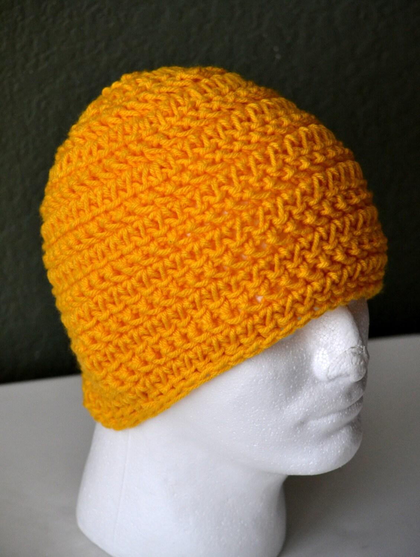 Crochet Skull Cap : Mens Crochet Skull cap. Crochet Beanie. Hand Crochet Hat.