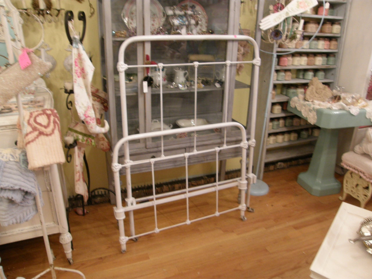 Antique Wrought Iron Bed Frame White Twin By