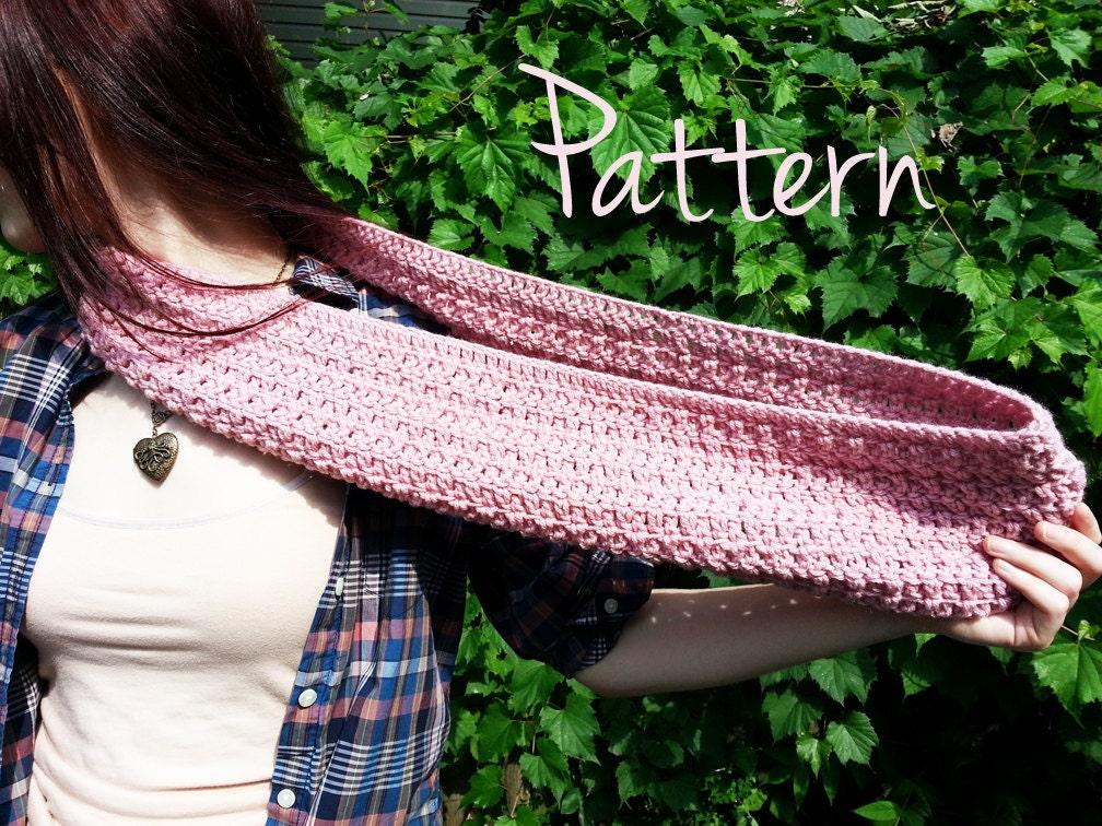 Crochet Infinity Scarf Tutorial For Beginners : Crochet Pattern Infinity Scarf Winter Fall by ...