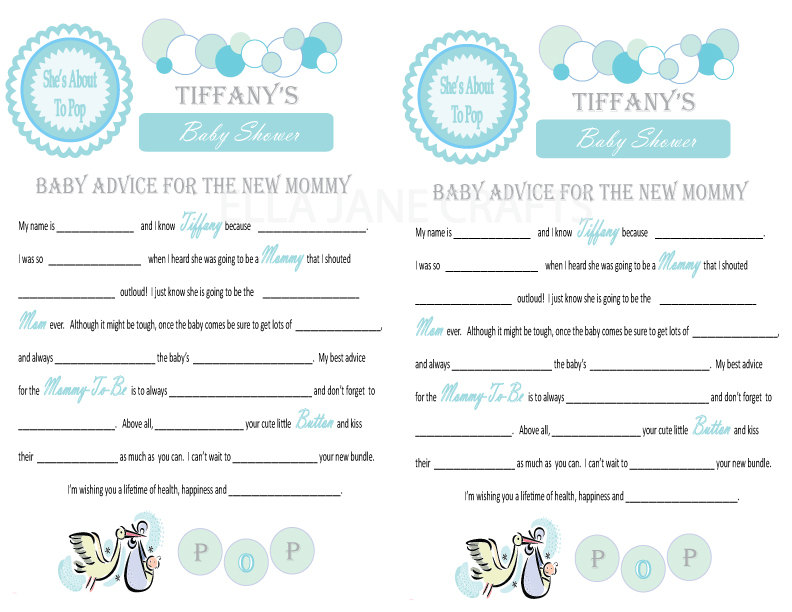 items similar to baby shower mad libs and wishes for the