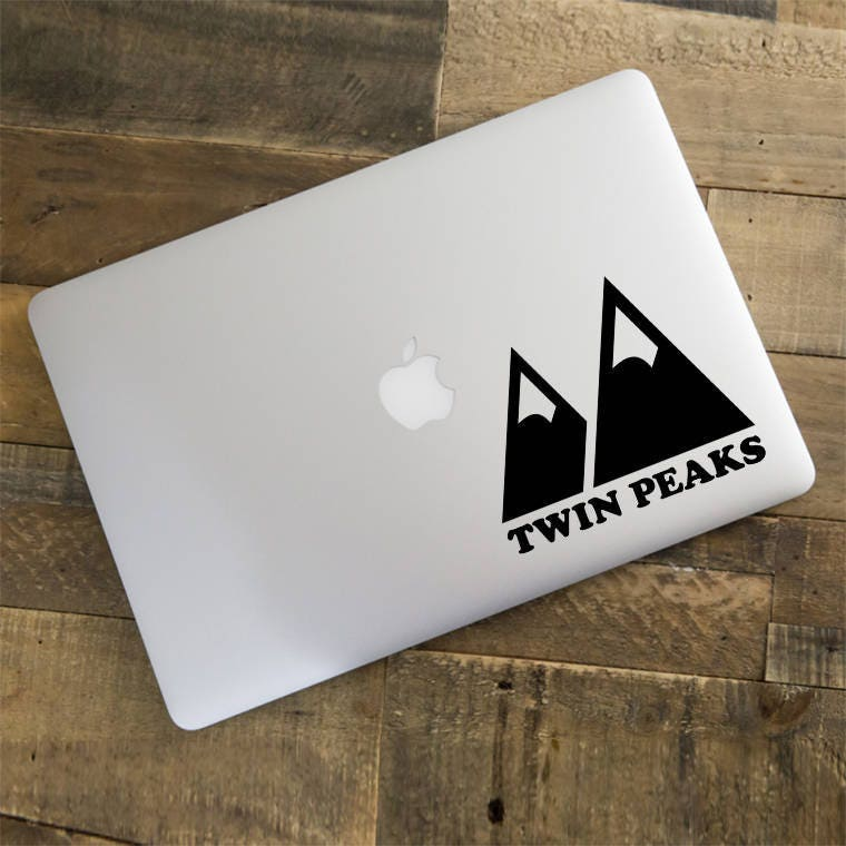 Twin Peaks Decal Twin Peaks Sticker Agent Cooper Mountain Decal Macbook Decal Laptop Sticker Vinyl Decal Macbook Air Decal LD020