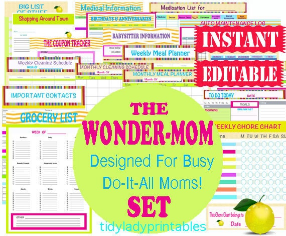 Organization Calendar For Moms : Family planner binder free printables search results
