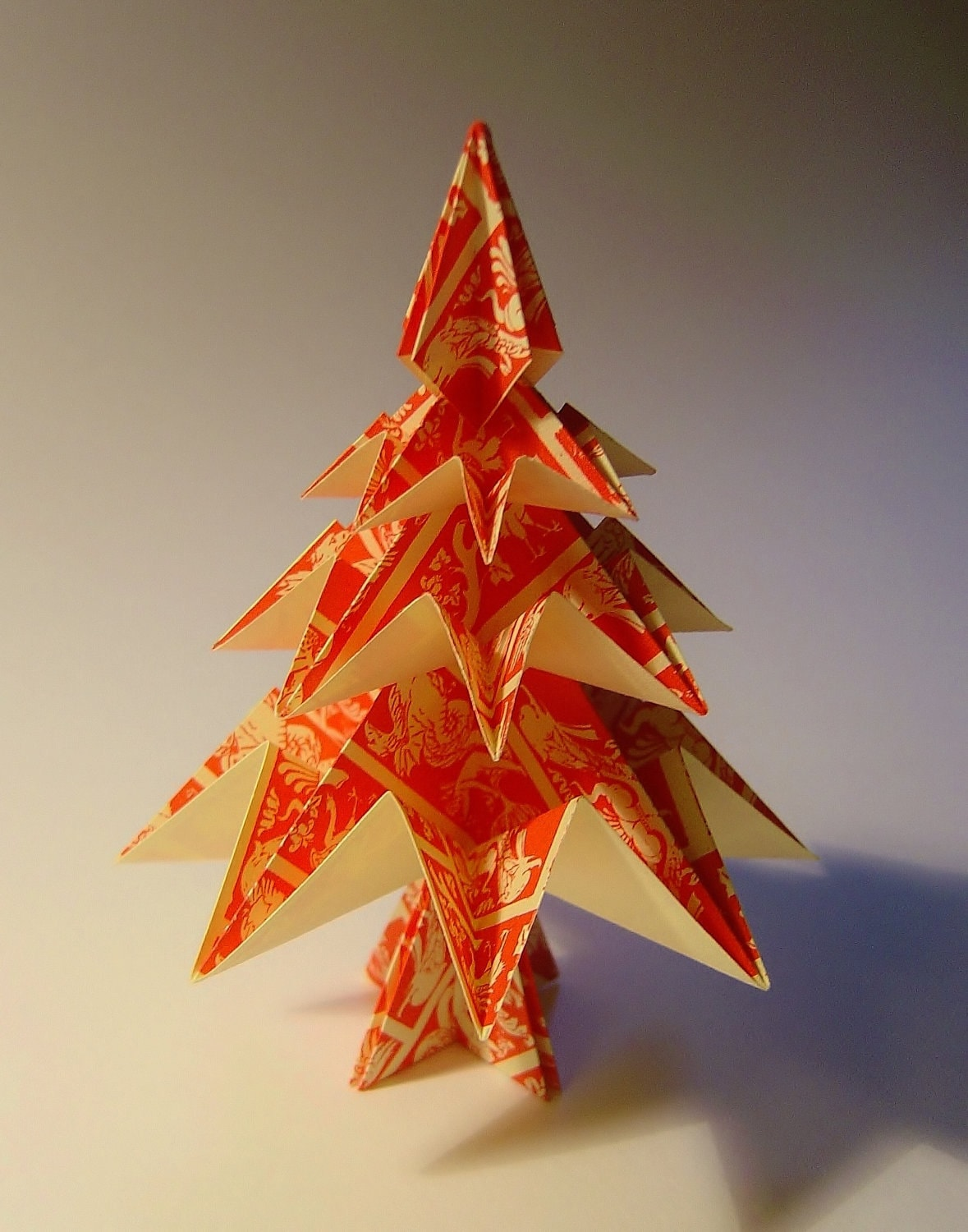 Small Origami Christmas Tree . Ornament for home or Christmas Table.