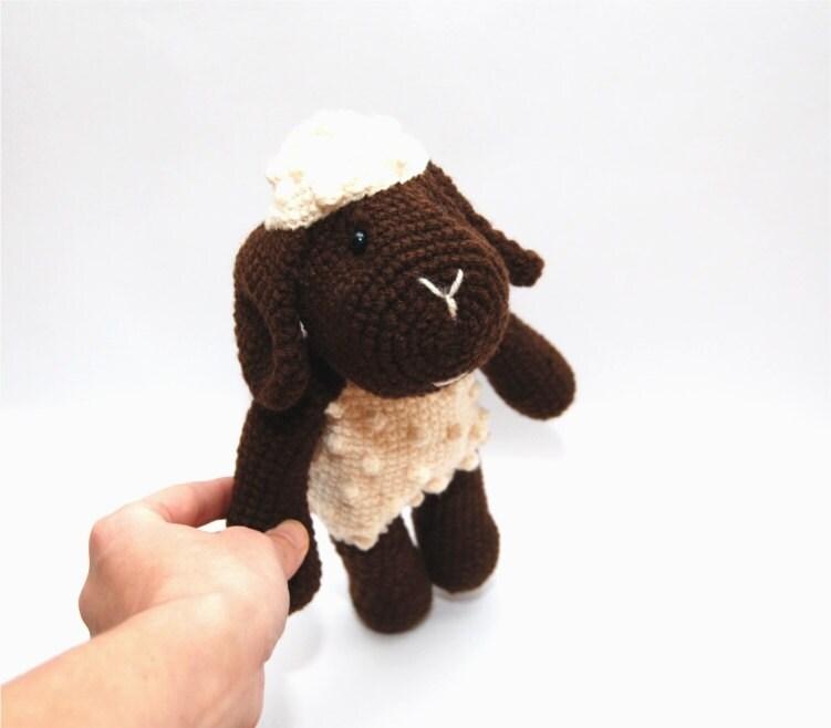 Etsy Amigurumi Sheep : Items similar to Easter black crocheted sheep lamb ...
