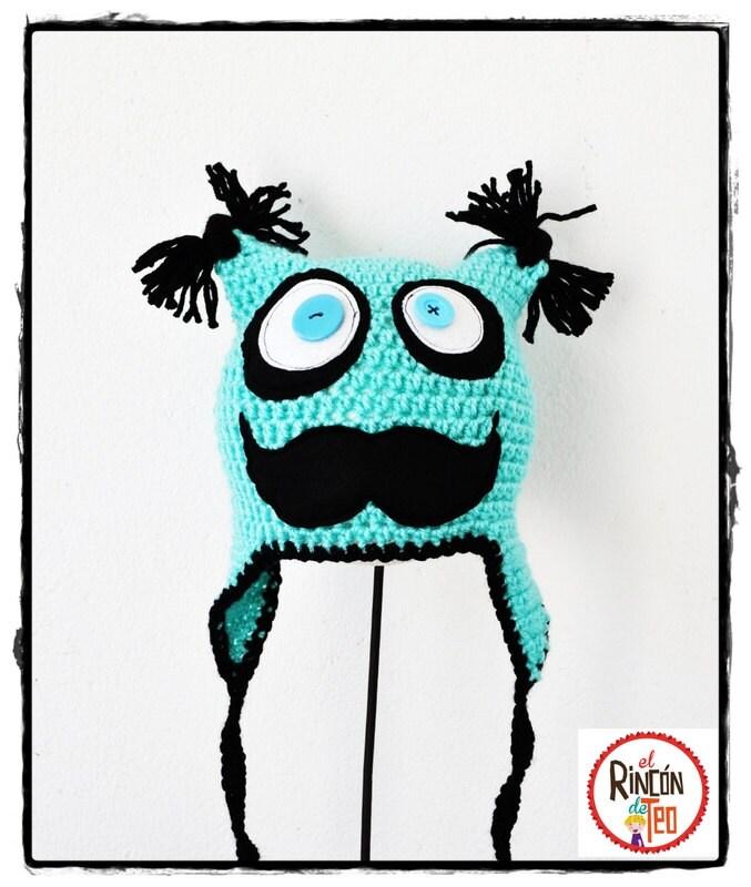 Crochet Hat Mr. Moustaches C
