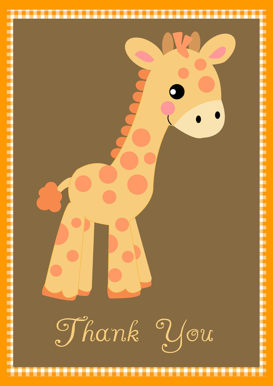 baby shower thank you notes baby giraffe by celebrationspaperie