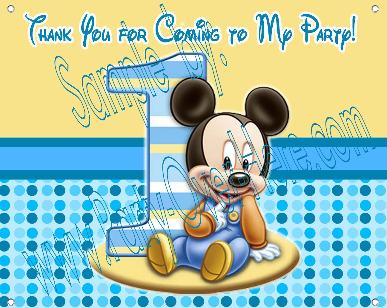 Mickey Mouse 1st Birthday Clipart Baby mickey mouse 1st birthday ...