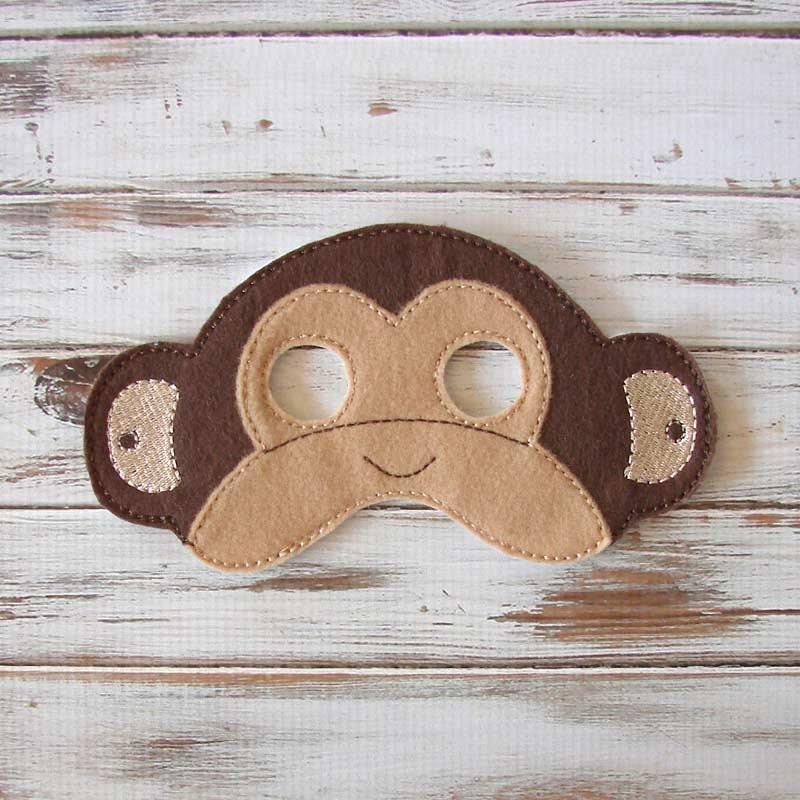 Маска обезьяны из фетра своими руками