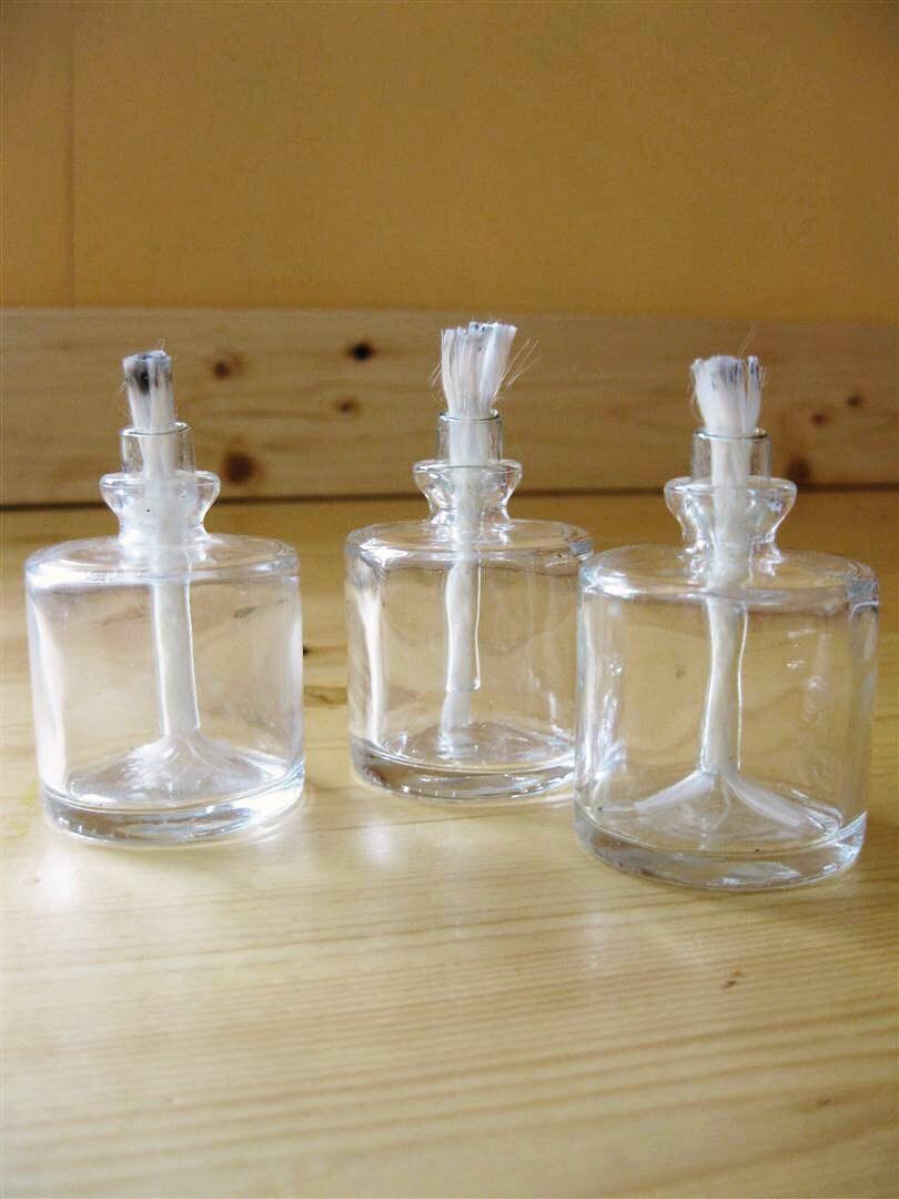 Glass Lamplights Mini Oil Lamps Set of Three by Bl