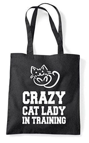 Crazy Cat Lady In Training Cute Funny Animal Themed Tote Bag Shopper