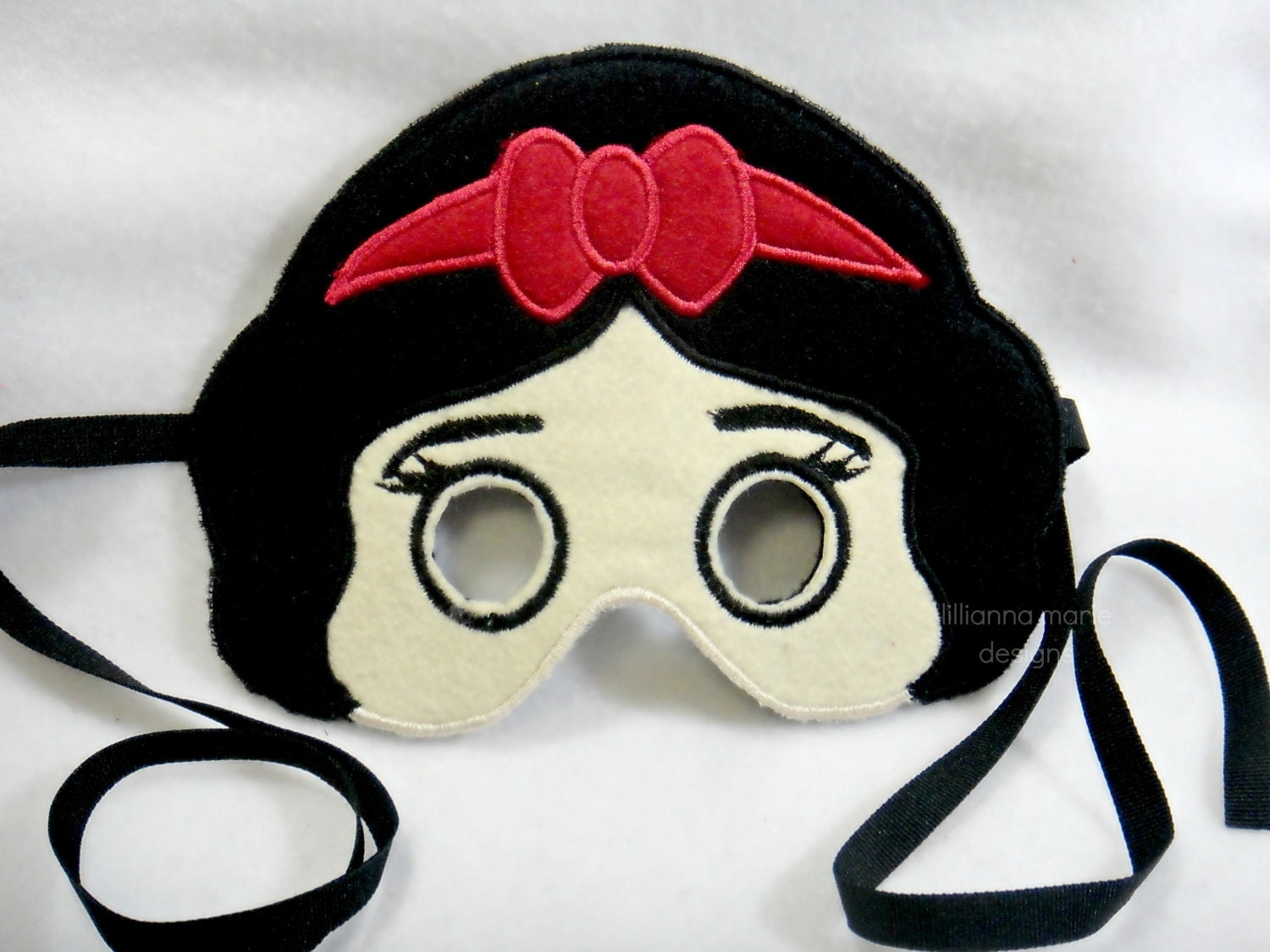 Snow White Felt  Mask