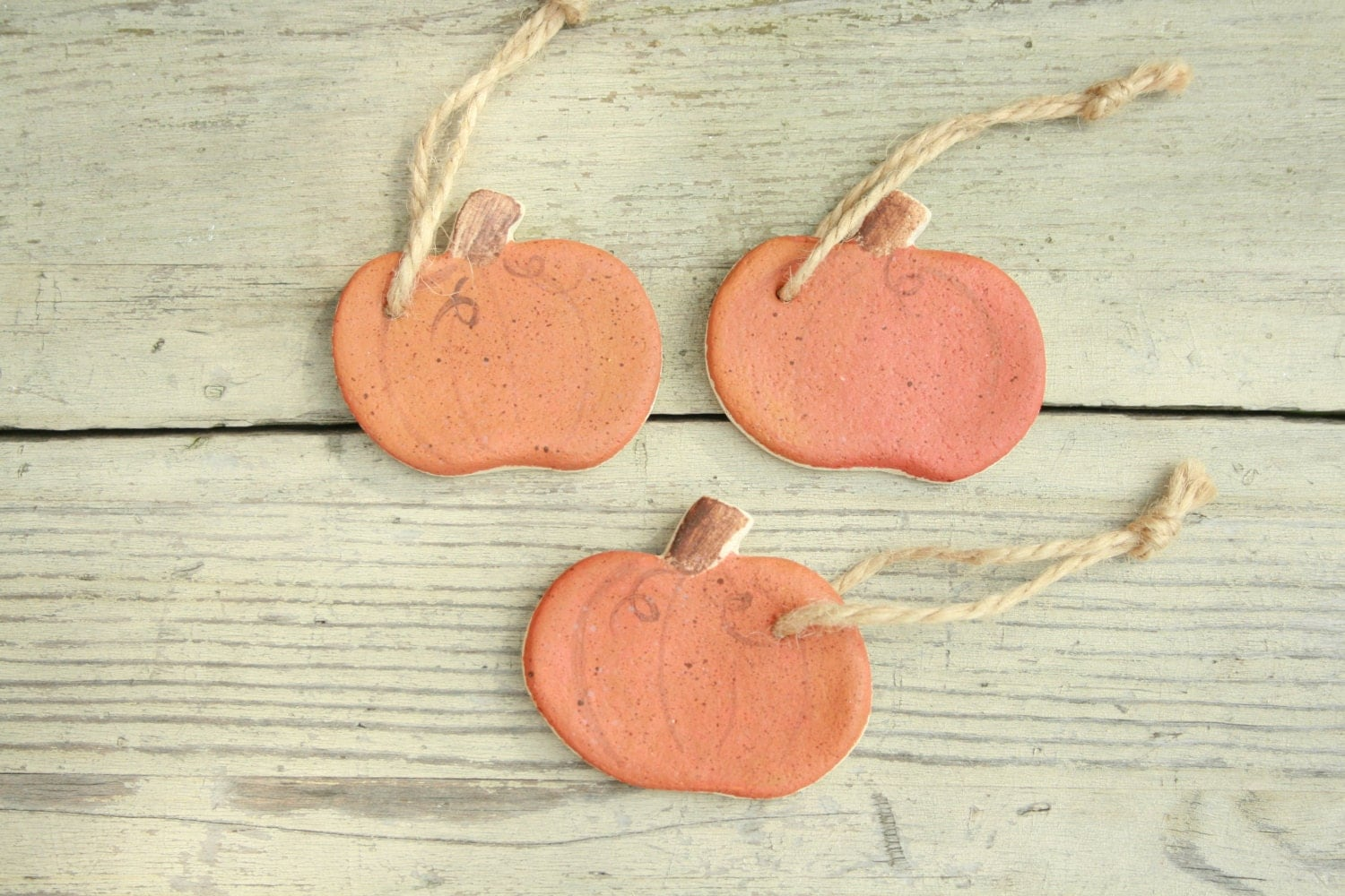 Salt dough  pumpkin Halloween hanging ornament Halloween tree decorations. Halloween favorsRustic Fall decor Primitive Autumn  ornaments.