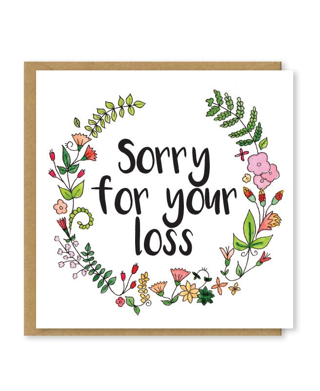 Sorry For Your Loss Sympathy Card Floral Bereavement