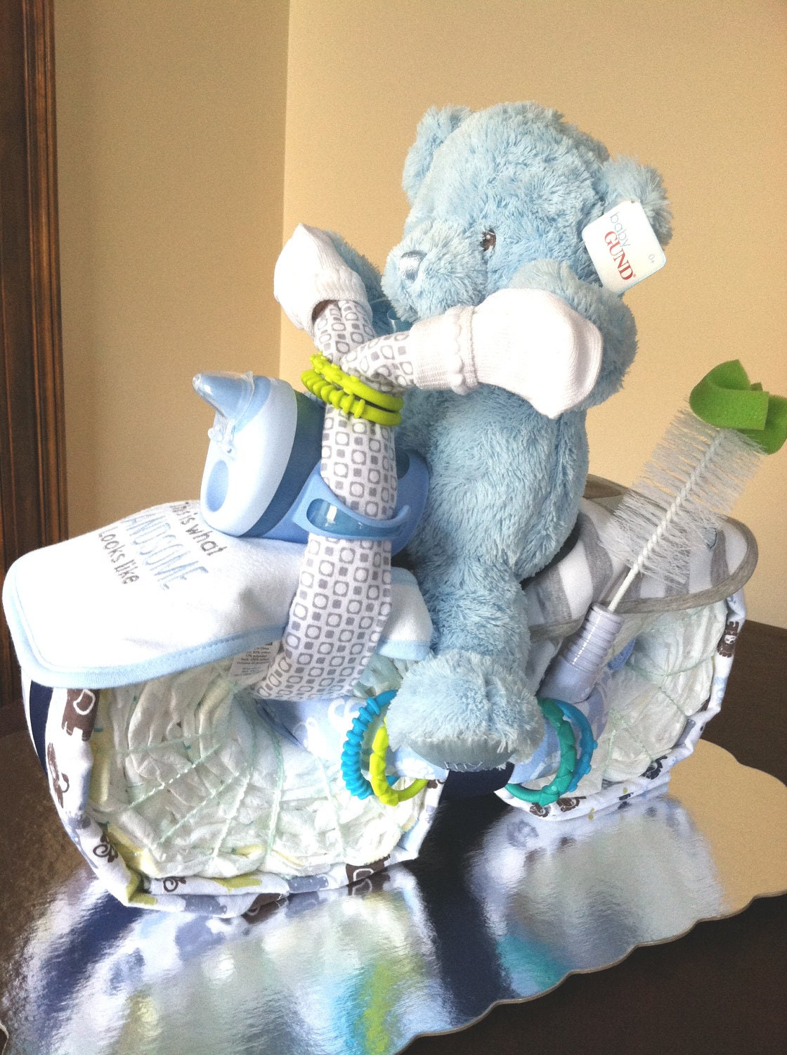 motorcycle diaper cake baby shower baby shower centerpiece on etsy