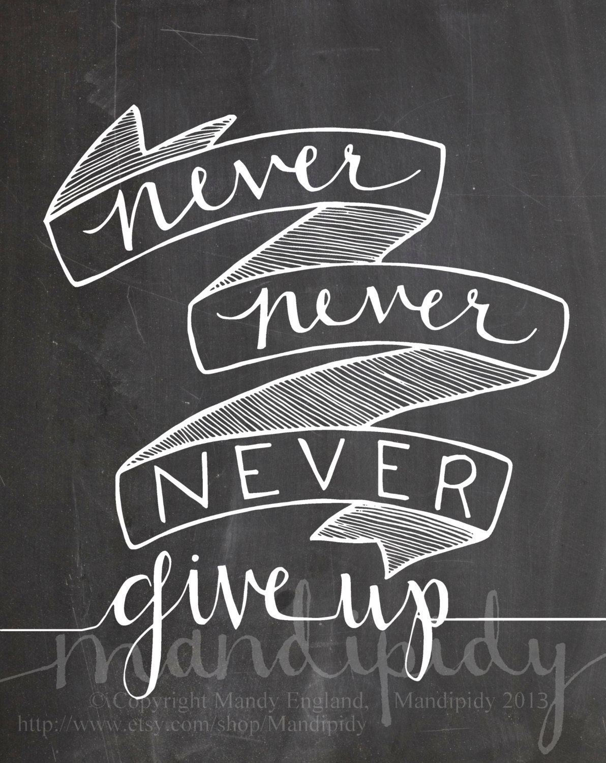 items similar to never give up winston churchill quote vintage chalkboard typography 8x10. Black Bedroom Furniture Sets. Home Design Ideas