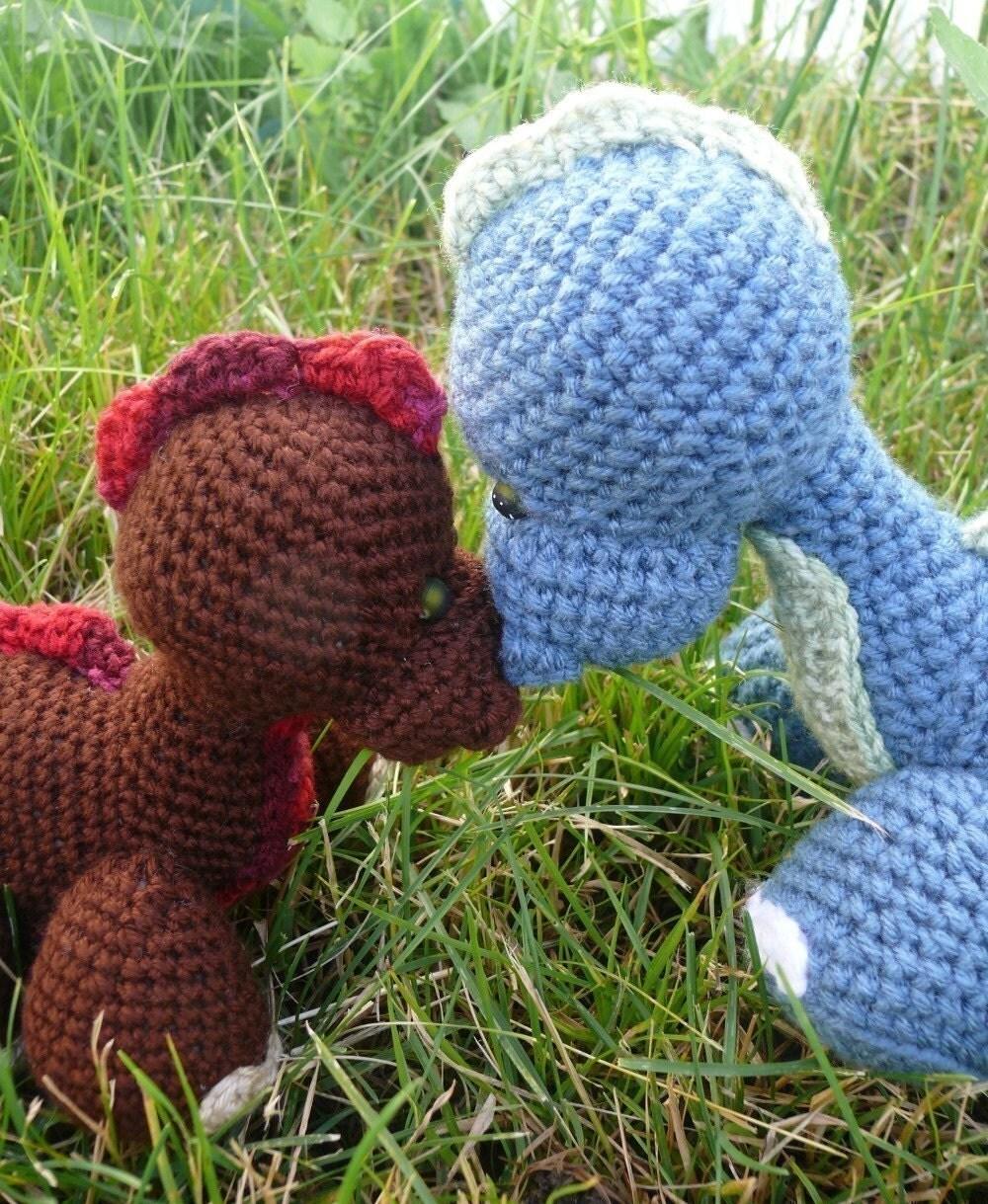 Amigurumi Baby Dinosaur Crochet Pattern PDF by voodoomaggie