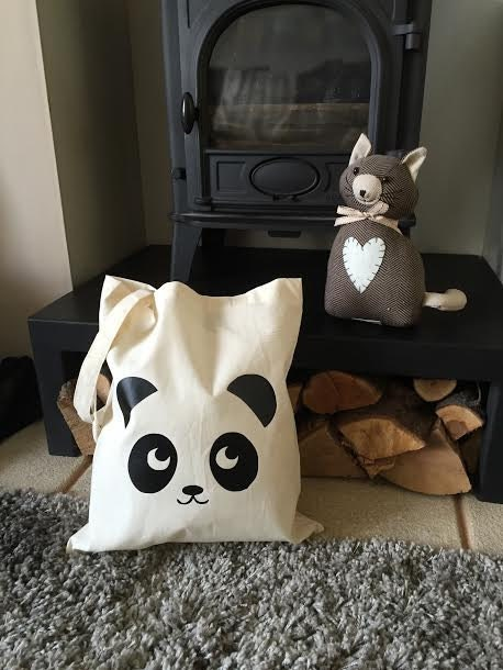 Super Cute Panda Tote Bag  Great For School Book Bag Birthday Christmas Secret Santa Gift