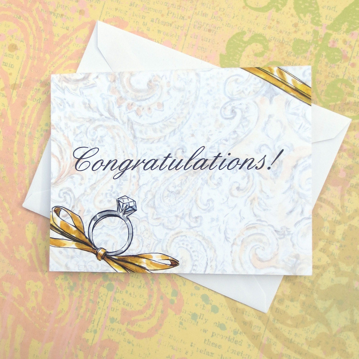 congratulations on your engagement wedding greeting by