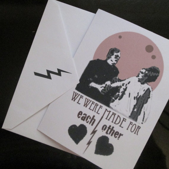 We Were Made For Each Other Frankenstein Card