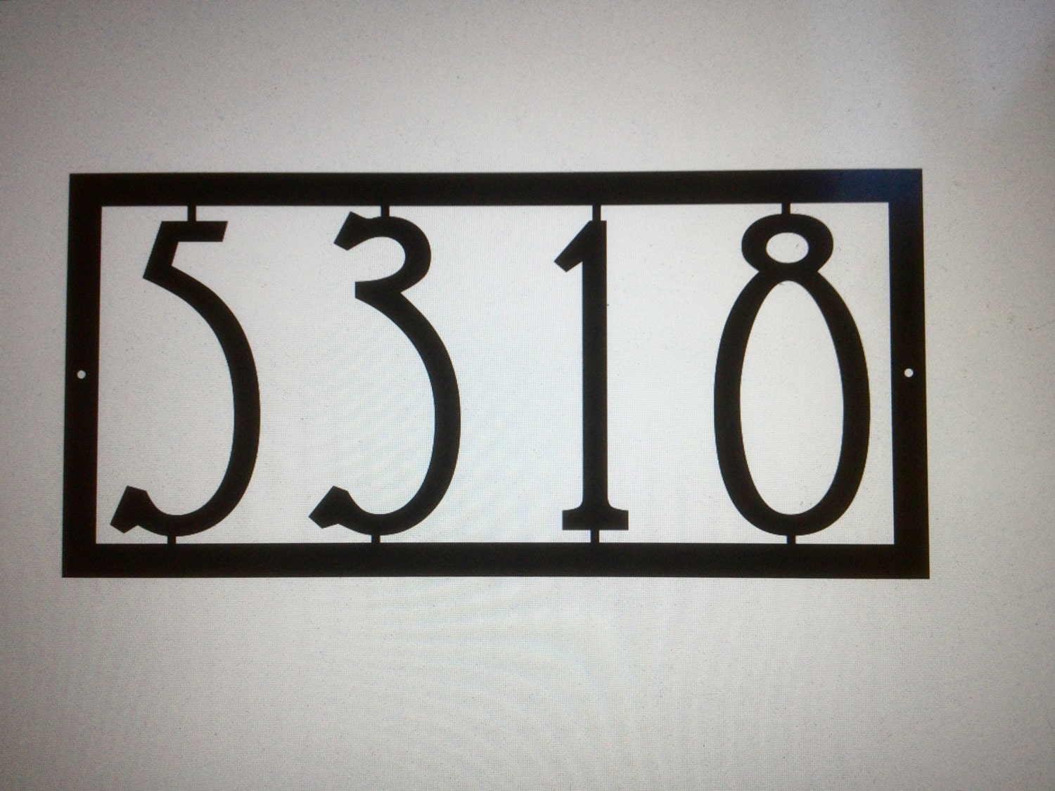 mission house numbers art deco house number by glamorousfindings. Black Bedroom Furniture Sets. Home Design Ideas