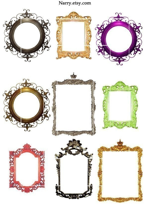 Glasses Frame Printable : 9 Frames For ATCScrapbooking Printable Collage Instant by ...