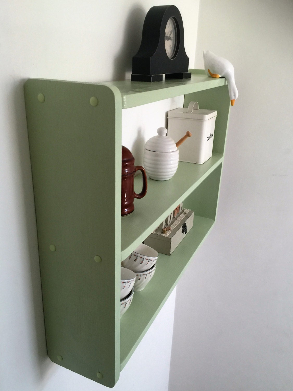 50cm H x 74cm W Pine Green Shelves Kitchen Bathroom Bedroom Shelves Bookcase.