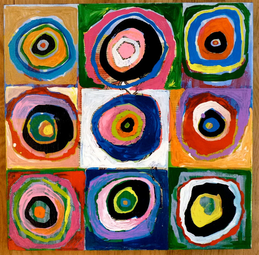 Art With Circles Original Painting