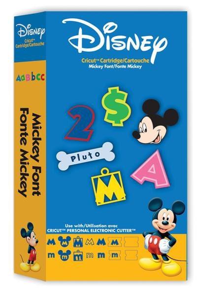 MICKEY FONT Die Cut Cricut Cartridge Disney Minnie By