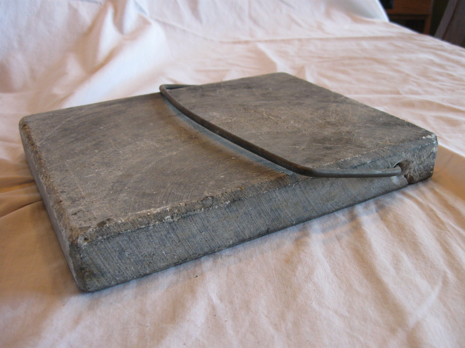Items similar to Antique Soapstone bed warmer sleigh foot