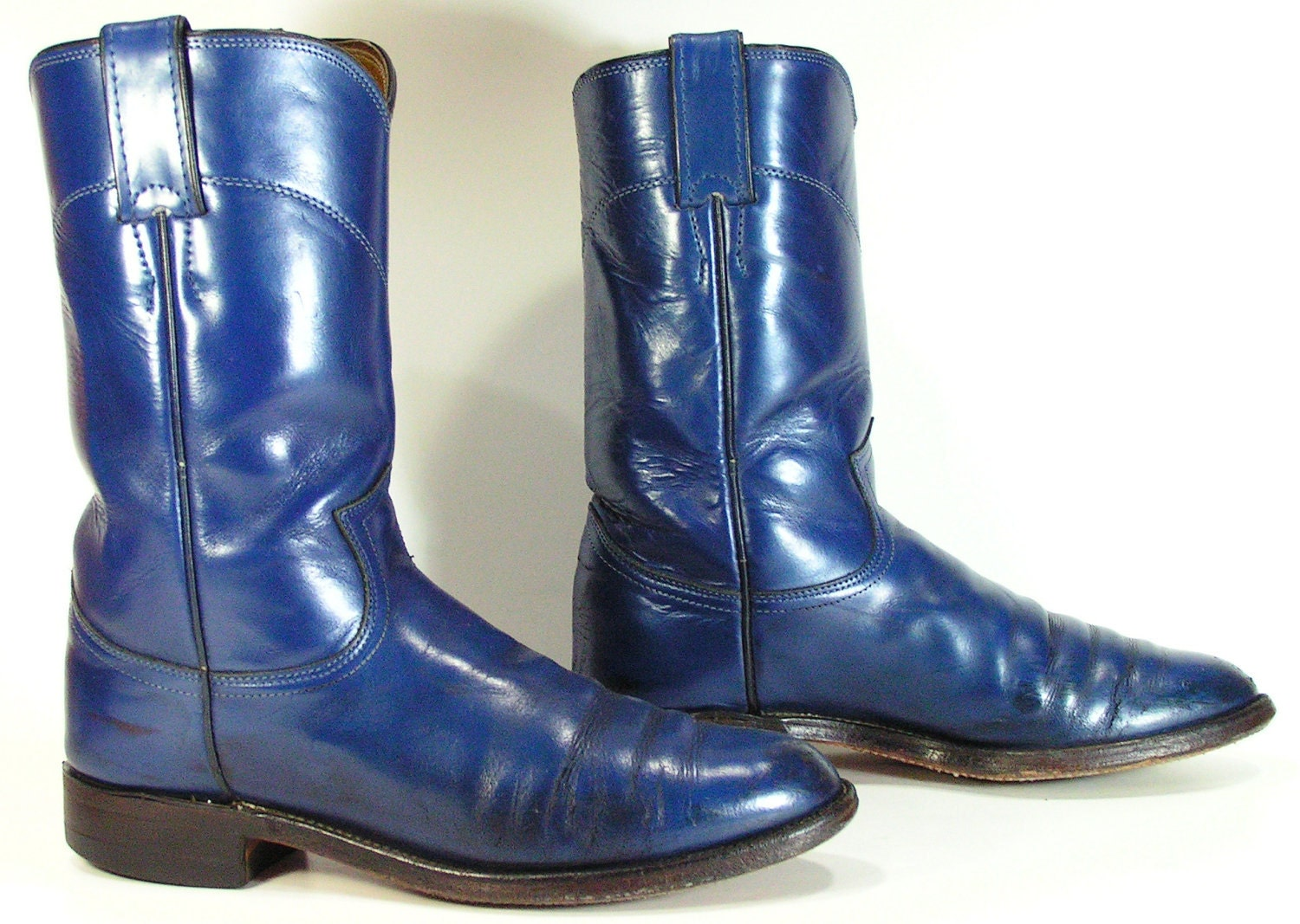 cowboy boots womens 7 c blue navy western by