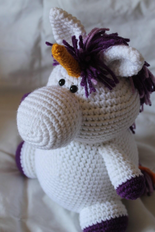Amigurumi Crochet Unicorn Pattern : Ursula the Unicorn Amigurumi Plush Crochet by daveydreamer