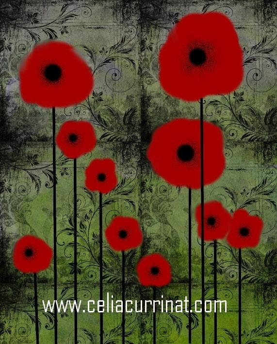 Poppy Poppies Fine Art PRINT 8 x 10 Unique Gift Idea