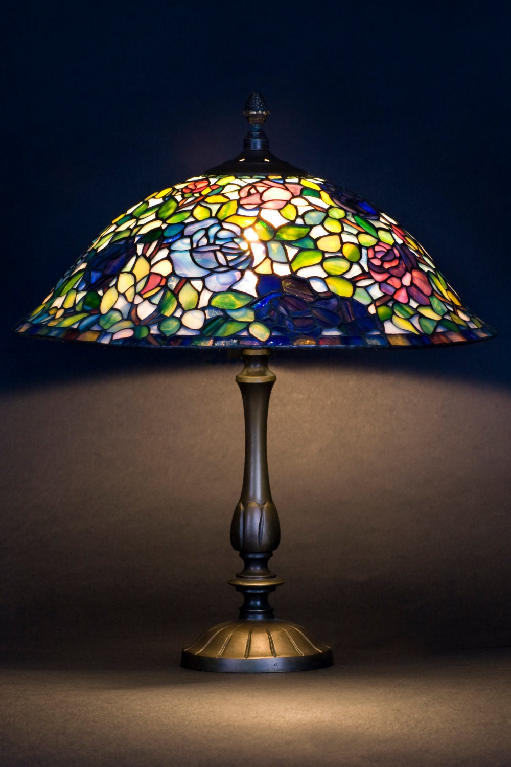Rose Lamp Shade Stained Glass Lamp Miniature Lamp Rose Lights Tiffany Lamp Stained Glass Light Lamp Shade Home Decor