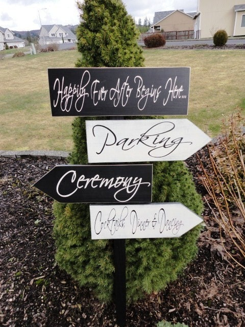Vintage Wooden Signs Custom Rustic Wedding By OurHobbyToYourHome