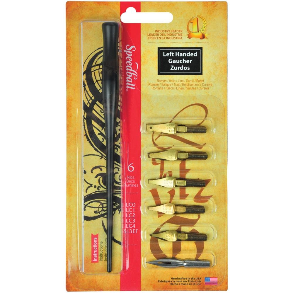 Speedball Calligraphy Set Left Handed Set Pen By