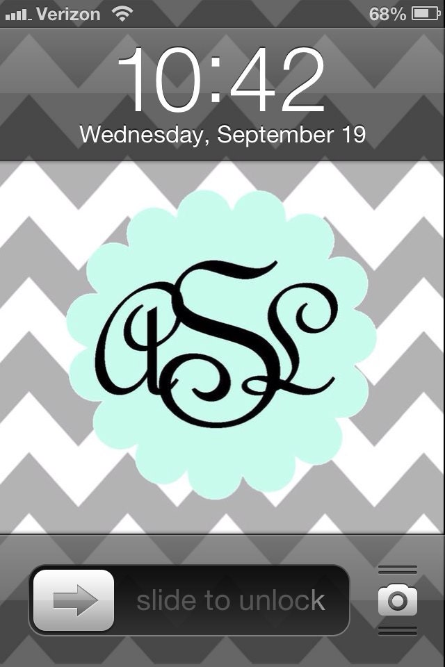 items similar to custom monogram iphone wallpaper