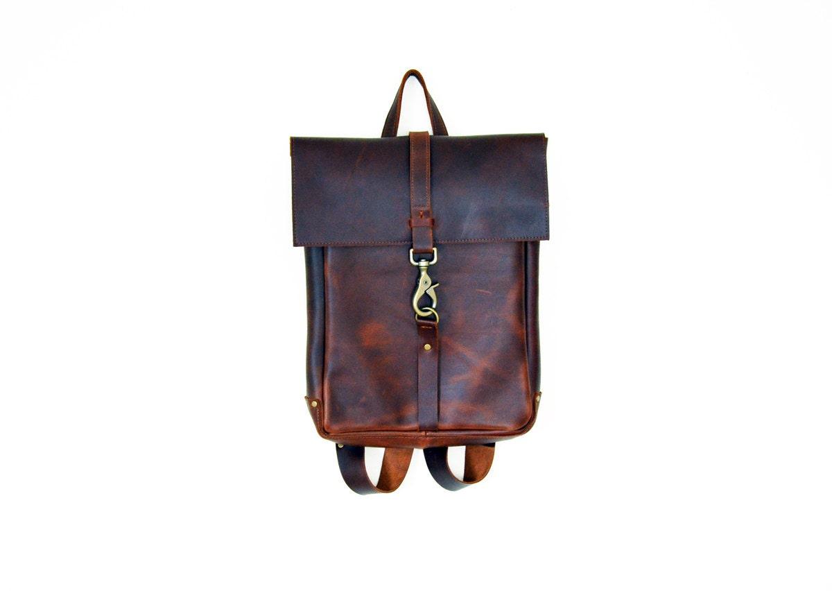 leather laptop bag,backpack - Telavivstreet